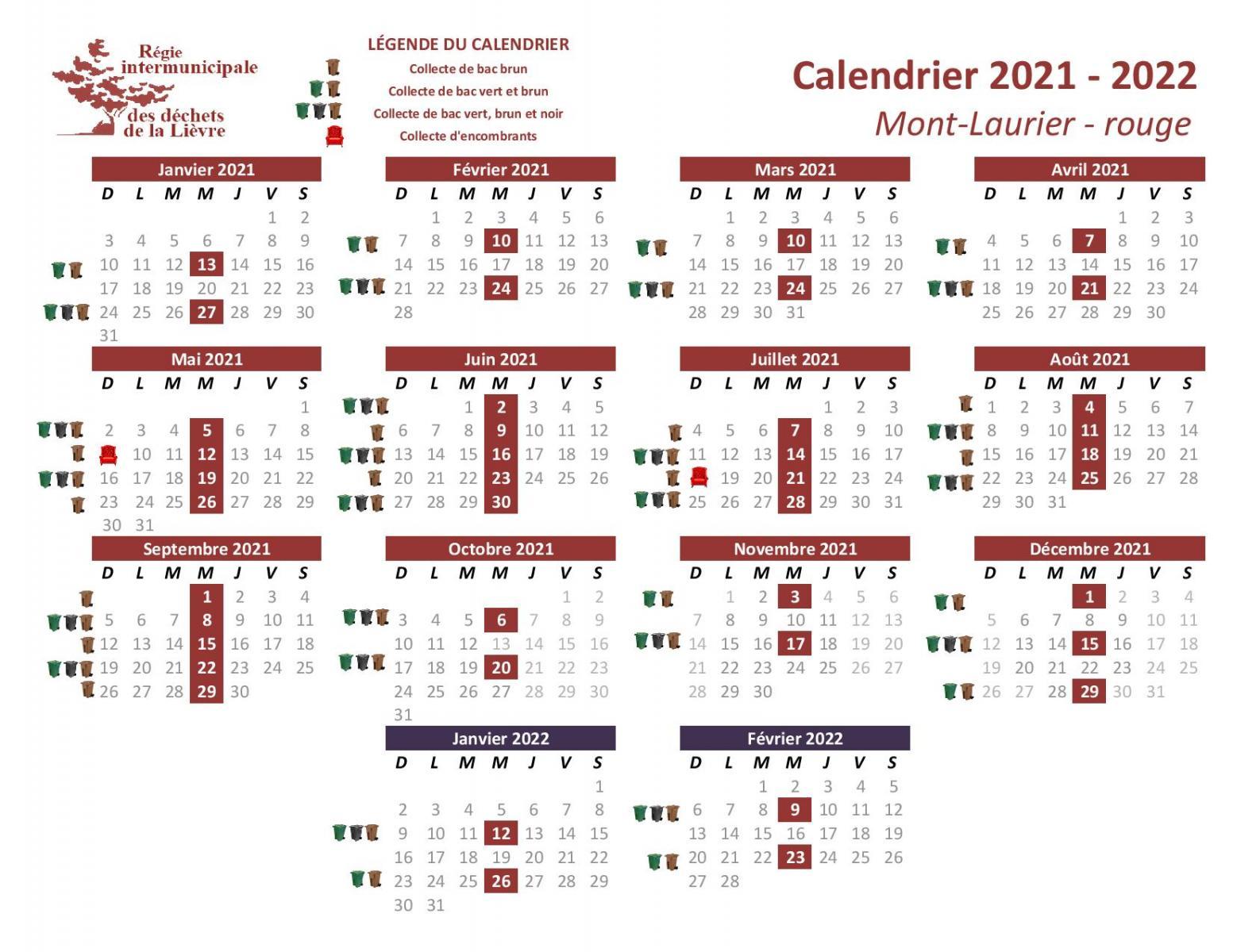 Calendrier Poubelle 2022 Calendriers par municipalité   RIDL
